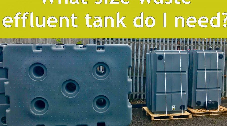 How do I select a waste tank for my glampsite?