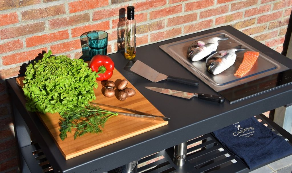 Outdoor induction grills & kitchens